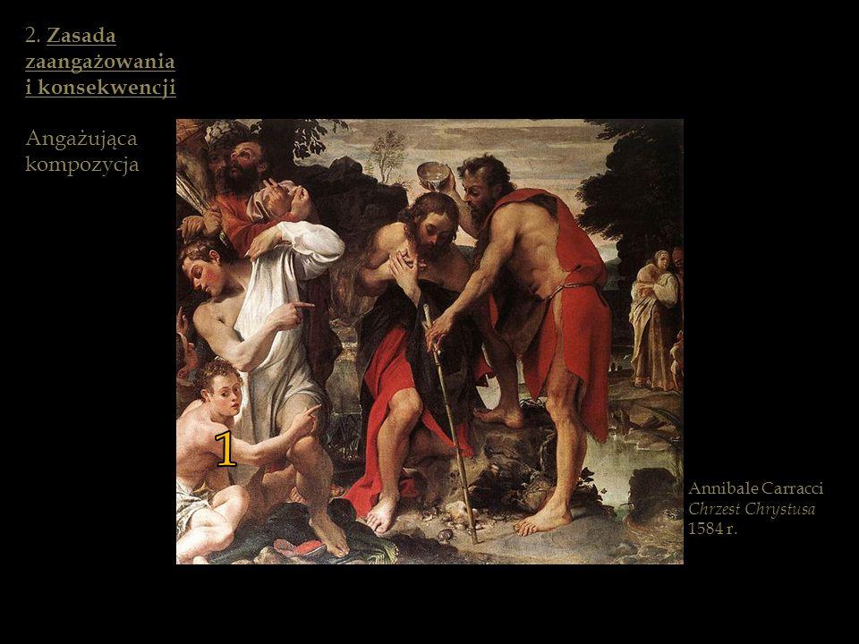 Annibale Carracci Chrzest Chrystusa 1584 r. 1 2. Zasada zaangażowania i konsekwencji Angażująca kompozycja
