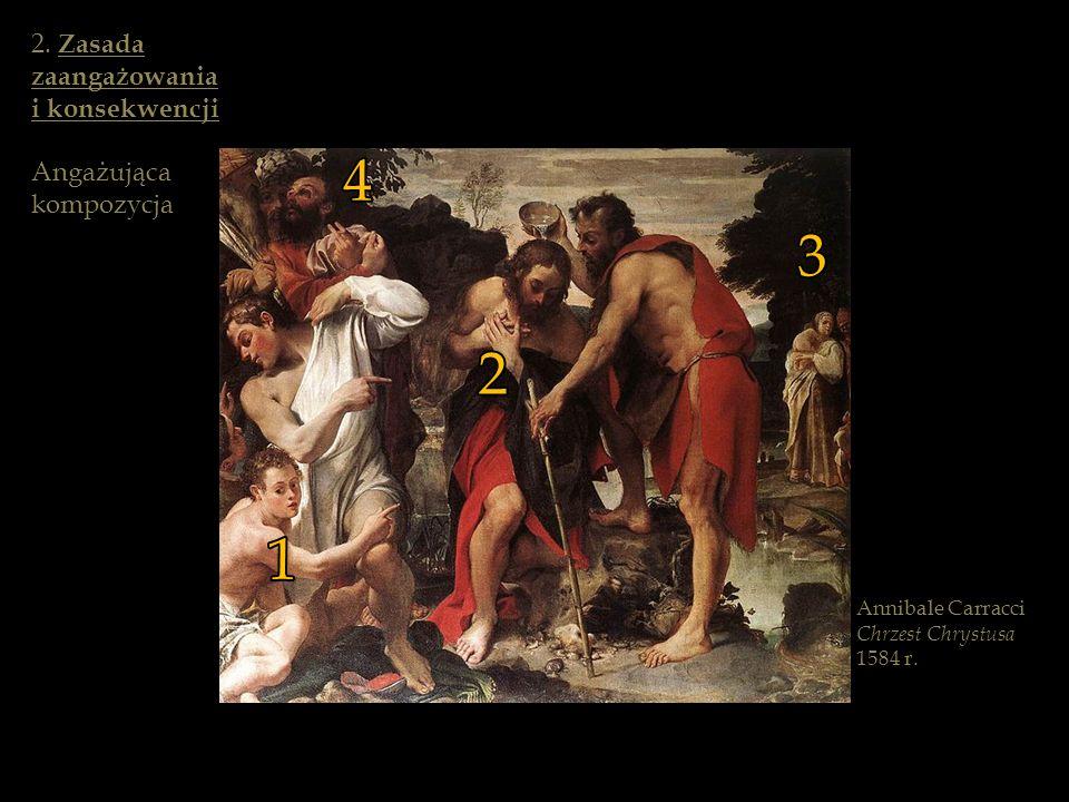 Annibale Carracci Chrzest Chrystusa 1584 r. 1 2 3 4 2. Zasada zaangażowania i konsekwencji Angażująca kompozycja