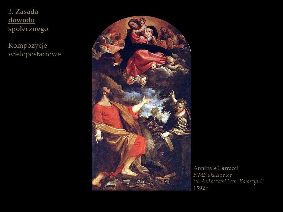 Annibale Carracci NMP ukazuje się św. Łukaszowi i św. Katarzynie 1592 r. 3. Zasada dowodu społecznego Kompozycje wielopostaciowe