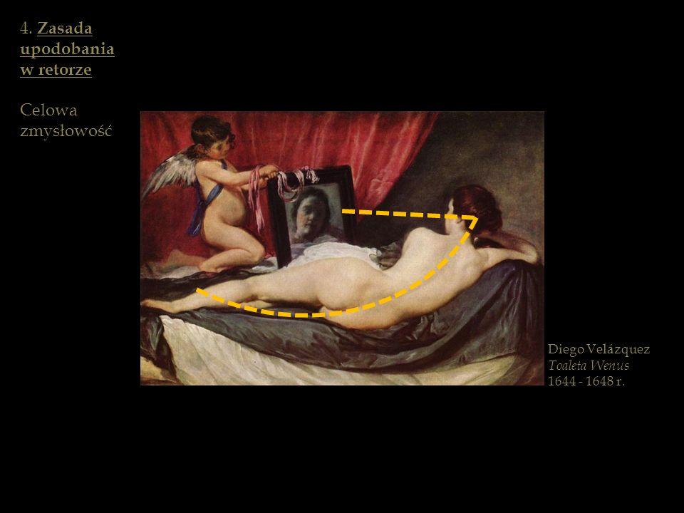 Diego Velázquez Toaleta Wenus 1644 - 1648 r. 4. Zasada upodobania w retorze Celowa zmysłowość