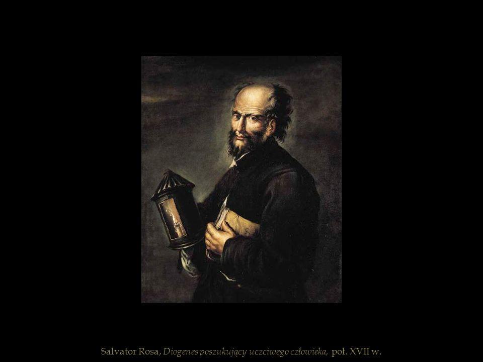 Salvator Rosa, Diogenes poszukujący uczciwego człowieka, poł. XVII w.