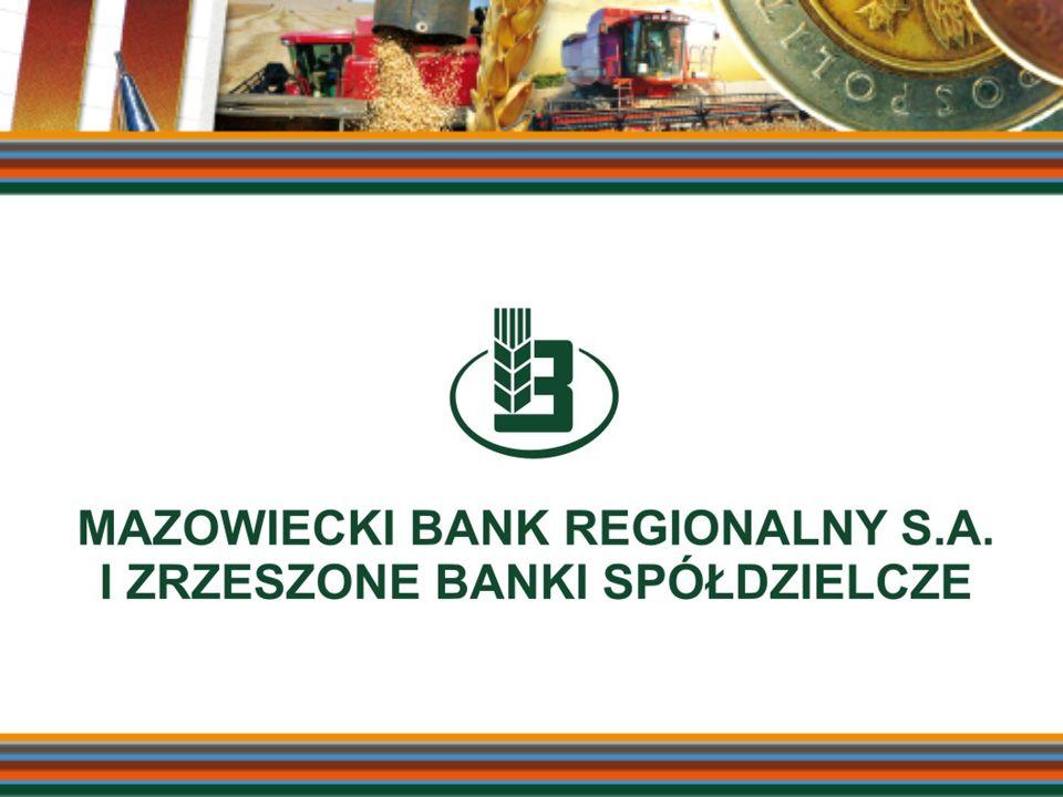 POLITYKA REGULACYJNA W OCENIE BANKÓW SPÓŁDZIELCZYCH Danuta Kowalczyk Prezes Zarządu MR Banku S.A.