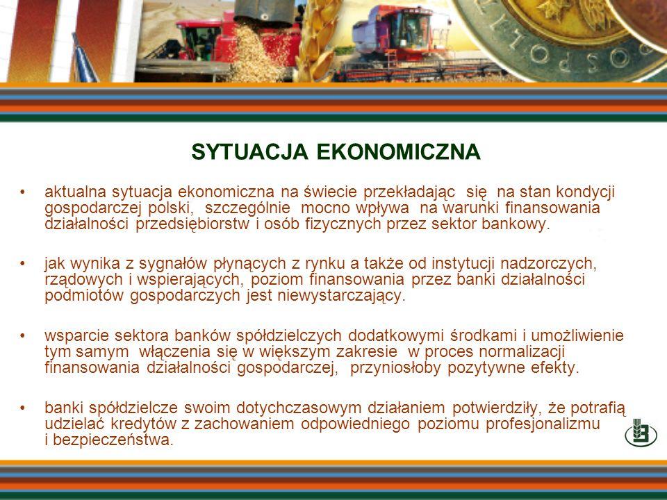 aktualna sytuacja ekonomiczna na świecie przekładając się na stan kondycji gospodarczej polski, szczególnie mocno wpływa na warunki finansowania dział