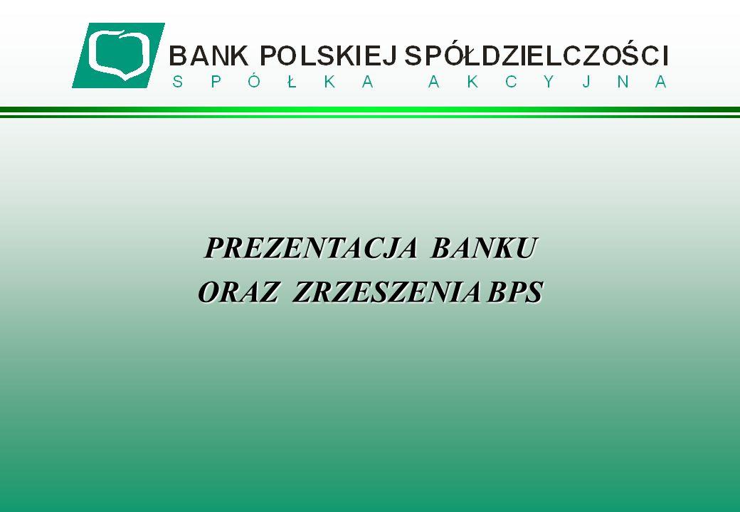 BANK POLSKIEJ SPÓŁDZIELCZOŚCI ZRZESZA 355 BANKÓW SPÓŁDZIELCZYCH I WSPÓŁPRACUJE Z 1 BANKIEM SPÓŁDZIELCZYM stan na 31-10-2005 r.