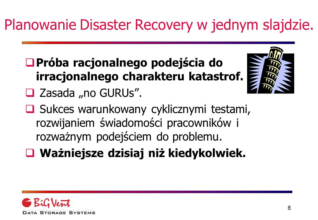 5 Co to jest disaster recovery.