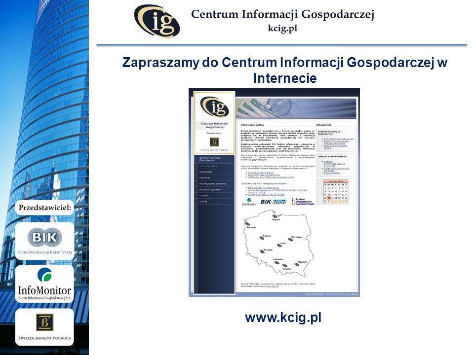 Zapraszamy do Centrum Informacji Gospodarczej w Internecie www.kcig.pl
