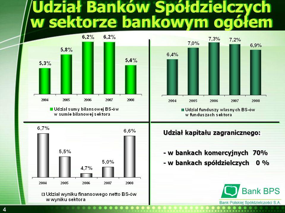 5 Współczynnik wypłacalności Banki Spółdzielcze na tle sektora bankowego Banki Spółdzielcze na tle sektora bankowego Udział funduszy własnych w sumie bilansowej 31.12.200831.12.2008 Udział kredytów zagrożonych od sektora niefinansowego Relacja kredytów do depozytów sektora niefinansowego 14,0% 13,2% 10,7% 9,4% 9,2% 7,1% 3,0% 2,8% 4,5% 67,6% 77,2% 124,1% Banki Spółdzielcze ogółem Banki Spółdzielcze ogółem Banki komercyjne Banki komercyjne Banki Zrzeszone z BPS S.A.