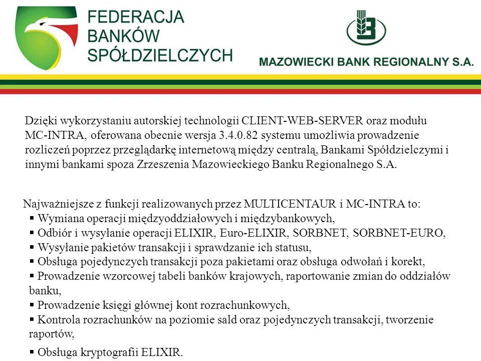 SYSTEM ROZLICZEŃ MIĘDZYBANKOWYCH W MR BANKU S.A.