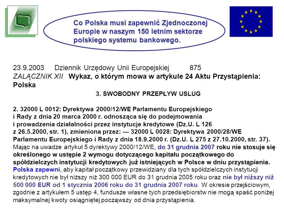 23.9.2003 Dziennik Urzędowy Unii Europejskiej 875 ZALĄCZNIK XII Wykaz, o którym mowa w artykule 24 Aktu Przystąpienia: Polska 3.