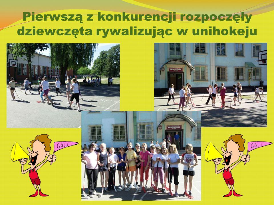 Pierwszą z konkurencji rozpoczęły dziewczęta rywalizując w unihokeju