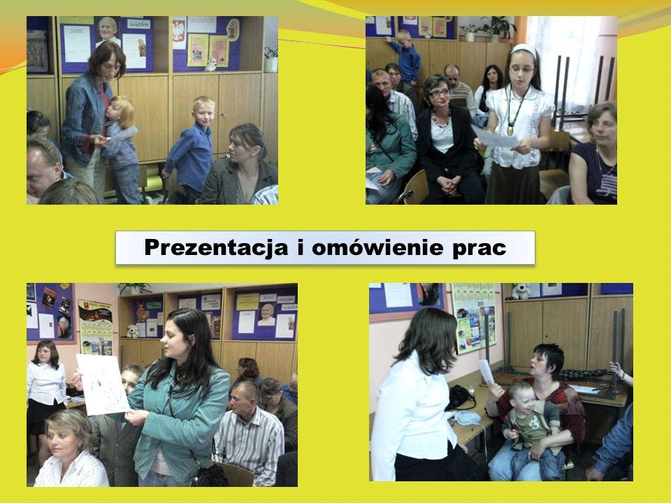 Prezentacja i omówienie prac