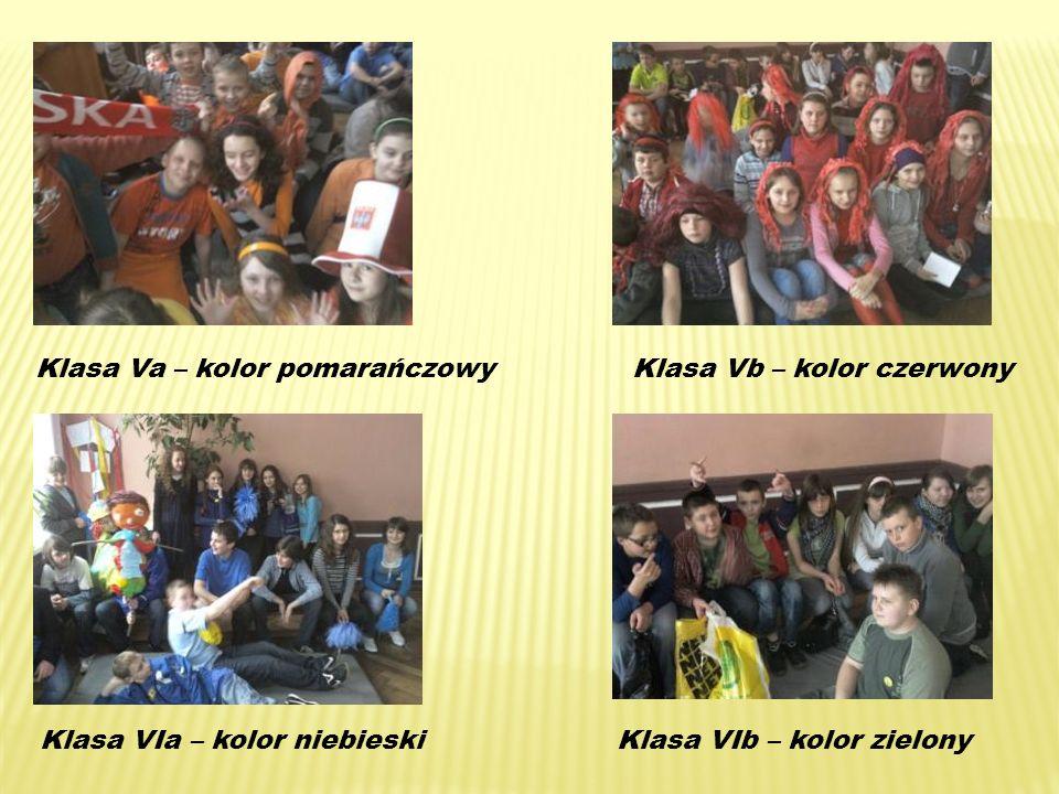 Klasa Va – kolor pomarańczowyKlasa Vb – kolor czerwony Klasa VIa – kolor niebieskiKlasa VIb – kolor zielony