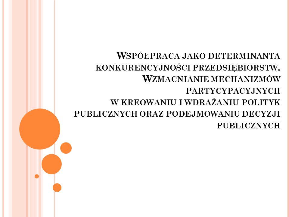 Ś WIĘTOKRZYSKIE G RONO B UDOWLANE Źródło: Olesiński Z., Predygier A., Identyfikacja i analiza grona na przykładzie grona budowlanego w regionie świętokrzyskim, konferencja nt.: Rola małych i średnich przedsiębiorstw w rozwoju regionalnym Polski, WSE, 26 kwietnia, Warszawa 2002, s.94