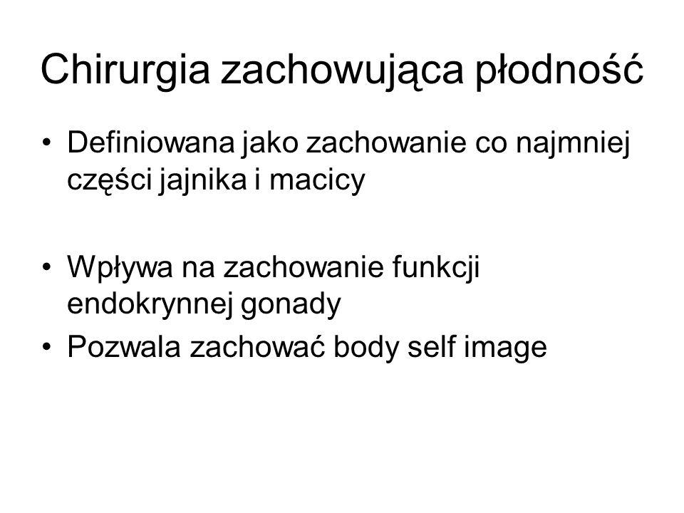 Definiowana jako zachowanie co najmniej części jajnika i macicy Wpływa na zachowanie funkcji endokrynnej gonady Pozwala zachować body self image Chiru