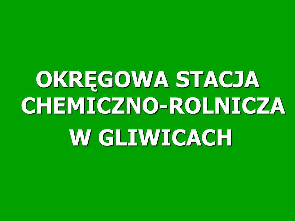 OKRĘGOWA STACJA CHEMICZNO-ROLNICZA W GLIWICACH W GLIWICACH