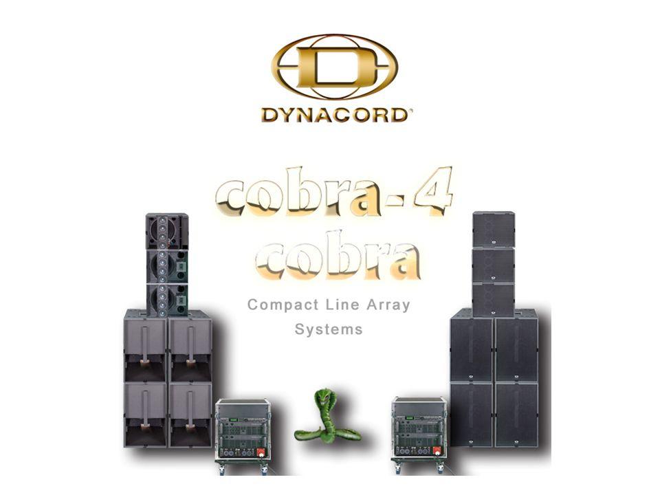 SPL max Zestaw COBRA : TOP > 137dB + 137 dB / 1m (L+R) SUB > 141 dB / 1m