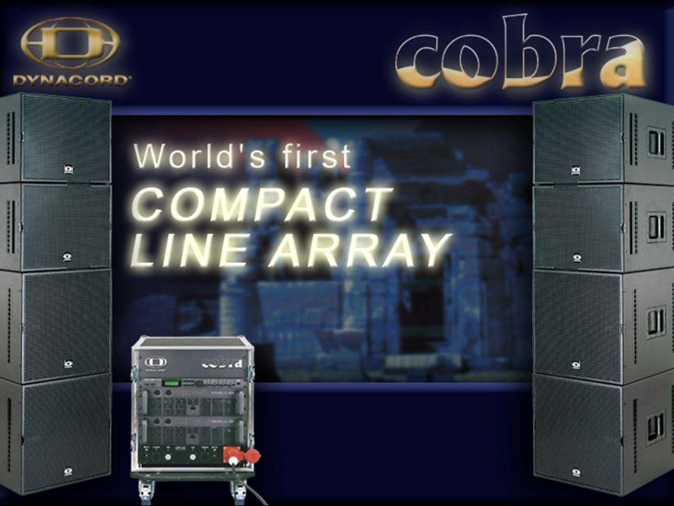 Zastosowane 2 x 2 COBRA-PWH w ustawieniu pionowym: LO-SPL max = 144 dB