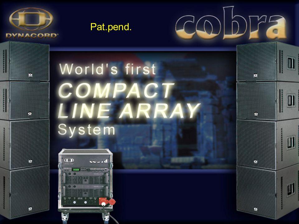 Zastosowane 2 x 3 COBRA-PWH w ustawieniu poziomym: LO-SPL max = 146 dB