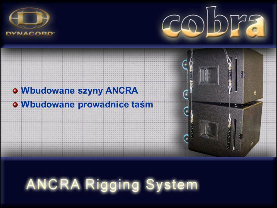 Wbudowane szyny ANCRA Wbudowane prowadnice taśm