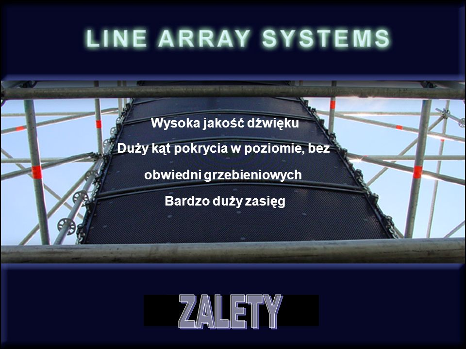 TOP SUB Rack DSP AMP Panel Dla dystansów > 40m