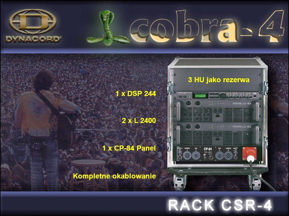 1 x DSP 244 2 x L 2400 1 x CP-84 Panel Kompletne okablowanie 3 HU jako rezerwa