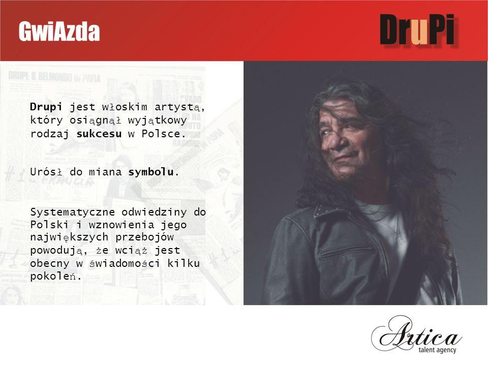GwiAzda Drupi jest w ł oskim artyst ą, który osi ą gn ął wyj ą tkowy rodzaj sukcesu w Polsce.