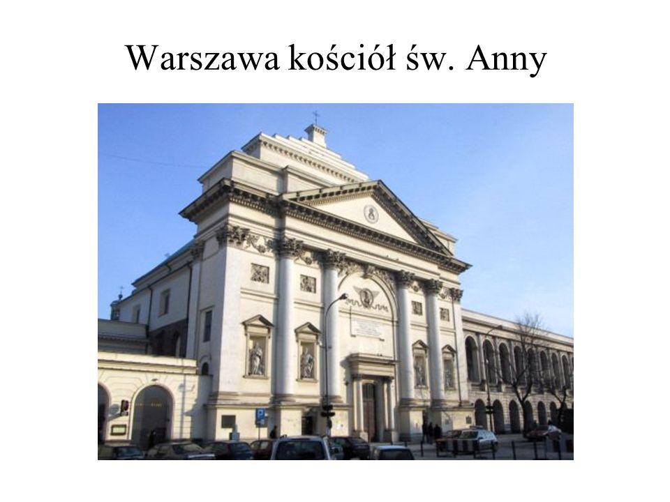 Warszawa kościół św. Anny