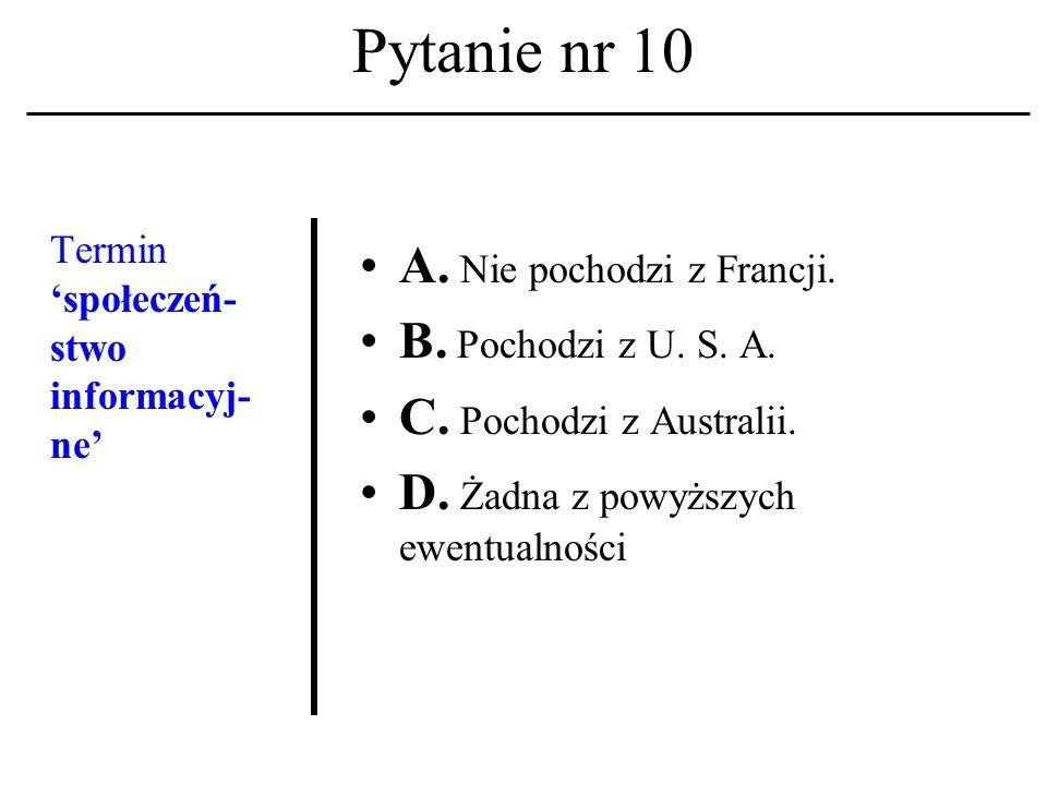 Pytanie nr 9. Komunikacja multimedial- na A.