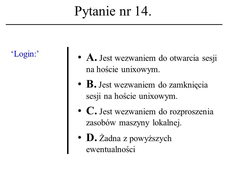 Pytanie nr 13. Do filozoficz- nych funda- mentów etyki komputero- wej należy: A.