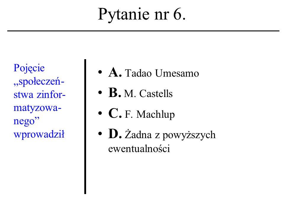 Pytanie nr 5. Plan Masudy A. Powstał w latach pięćdziesiątych XX w.