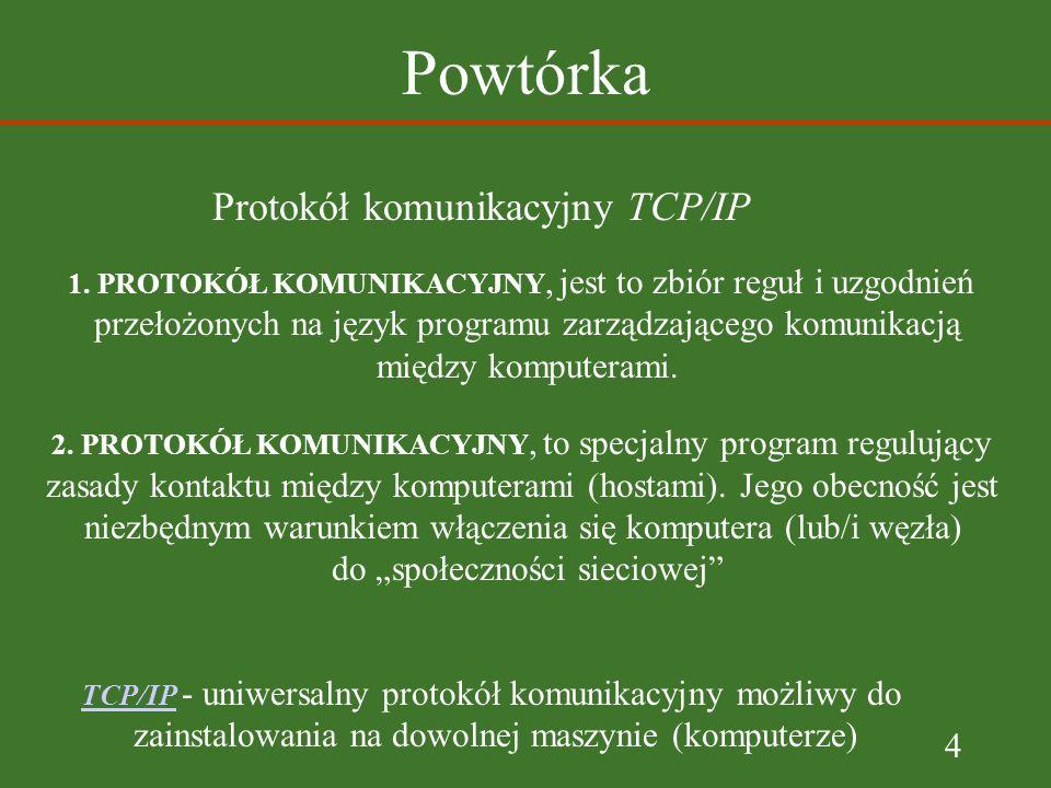4 Powtórka Protokół komunikacyjny TCP/IP 1.
