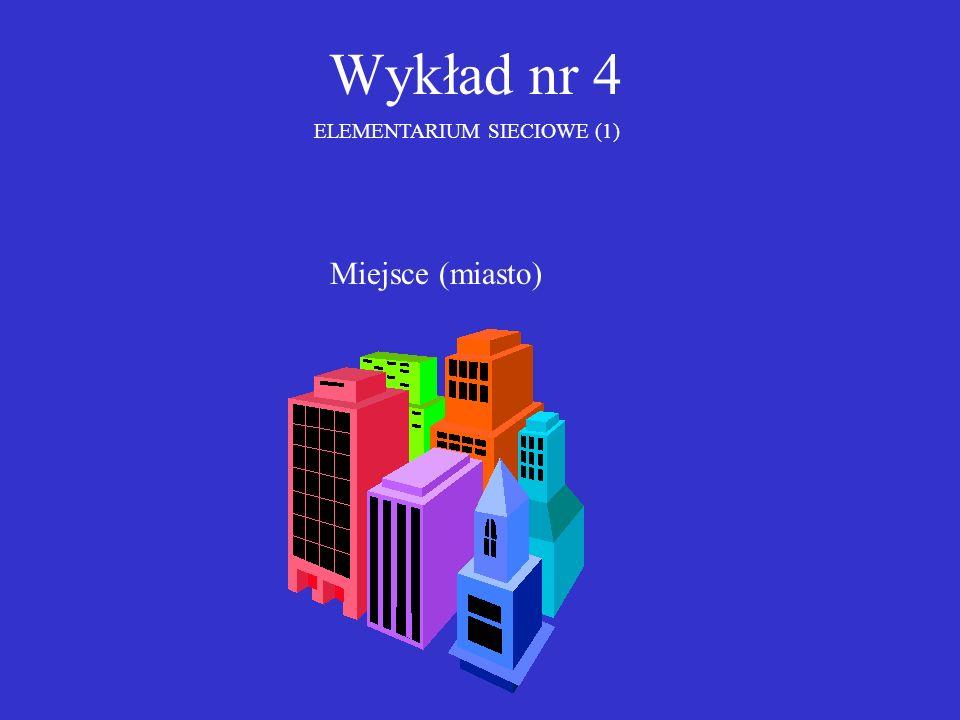Wykład nr 4 ELEMENTARIUM SIECIOWE (1) Miejsce (miasto)