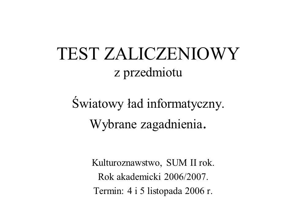 Pytanie nr 10.Telnet A. Jest programem (klientem) telekonferencyjnym; B.