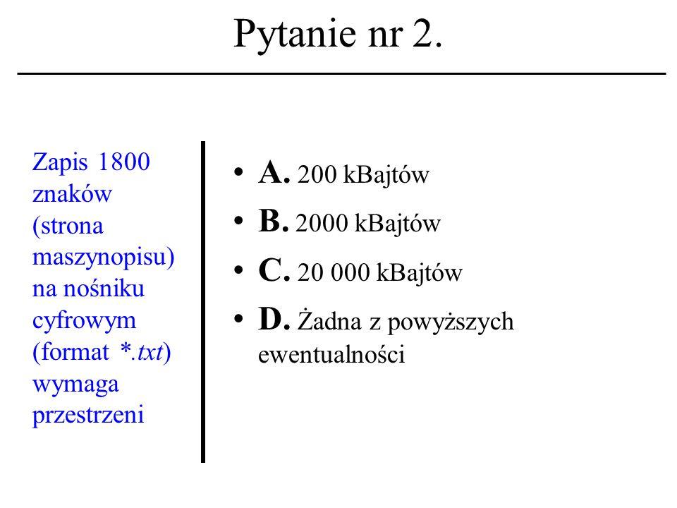 Pytanie nr 22.Adres pocztowy w komunikacji elektronicz- nej składa się z: A.