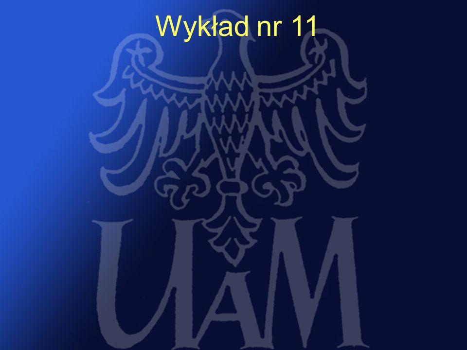 15 Wykład nr 11