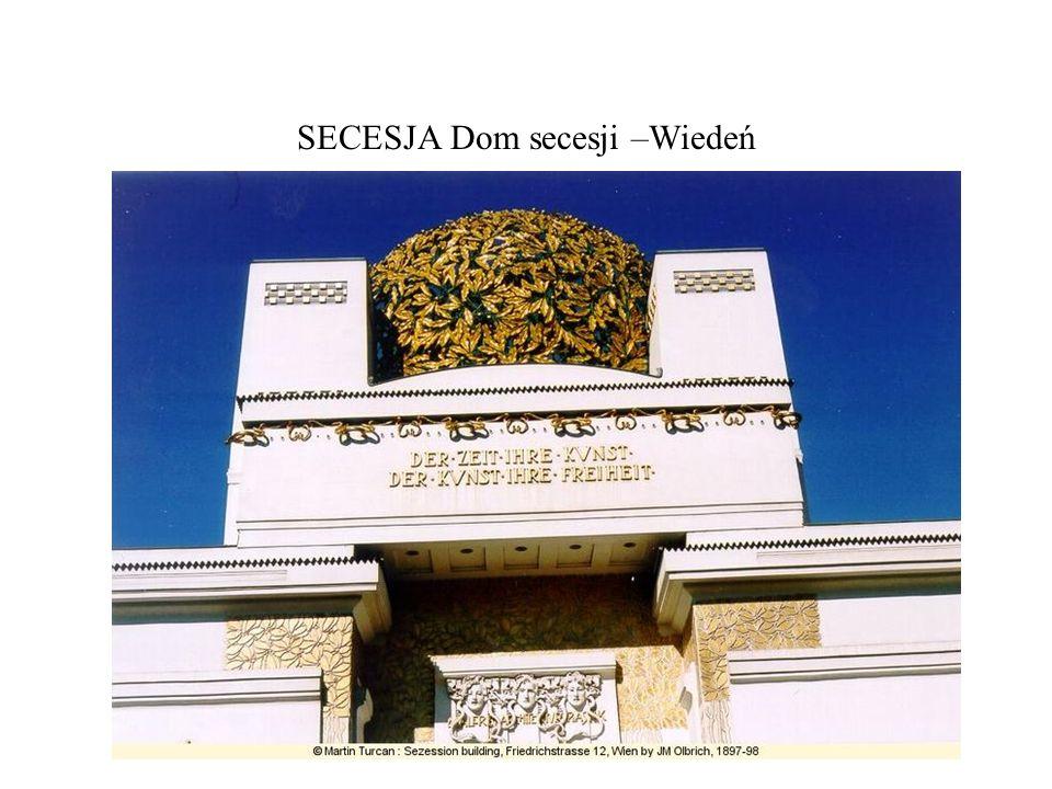 SECESJA Dom secesji –Wiedeń