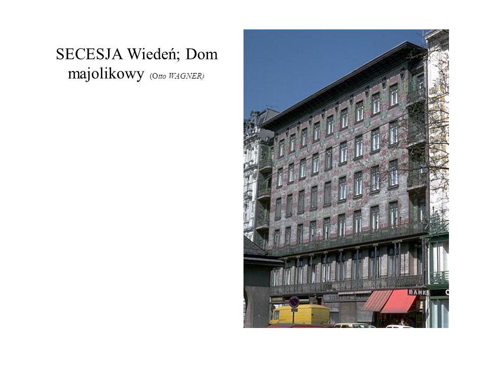 SECESJA Wiedeń; Dom majolikowy (Otto WAGNER)