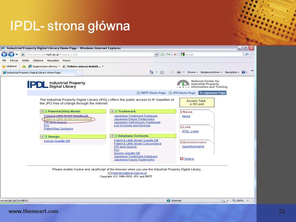 23 www.themeart.com IPDL- strona główna