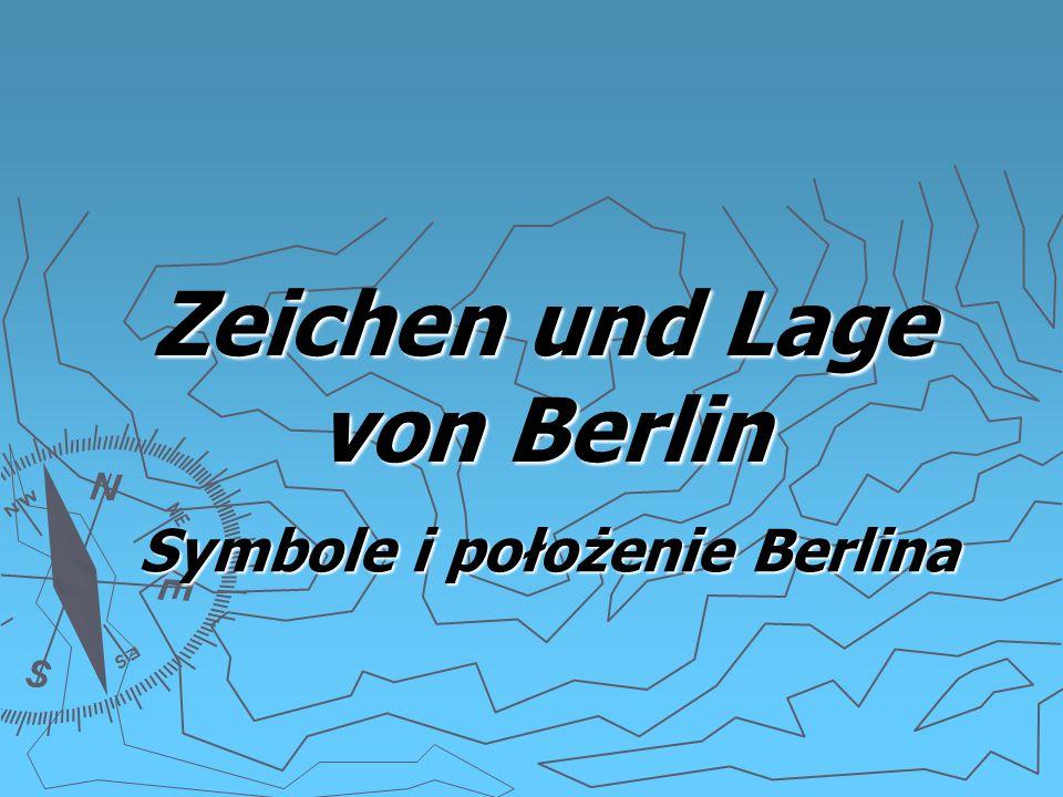 Zeichen und Lage von Berlin Symbole i położenie Berlina