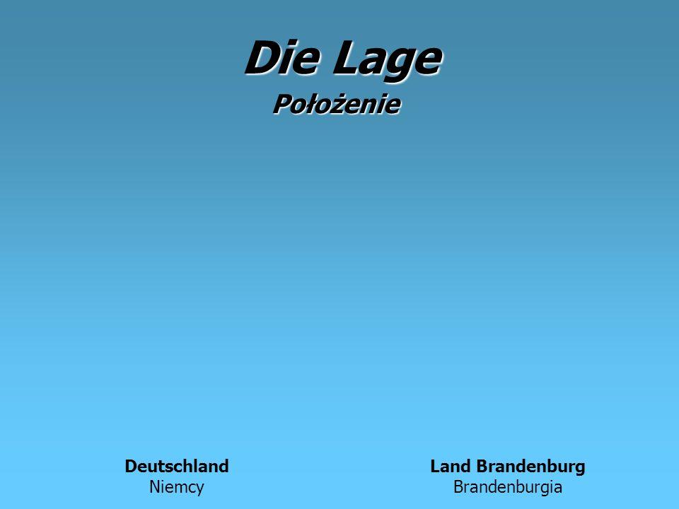 Die Lage Deutschland Niemcy Land Brandenburg Brandenburgia Położenie