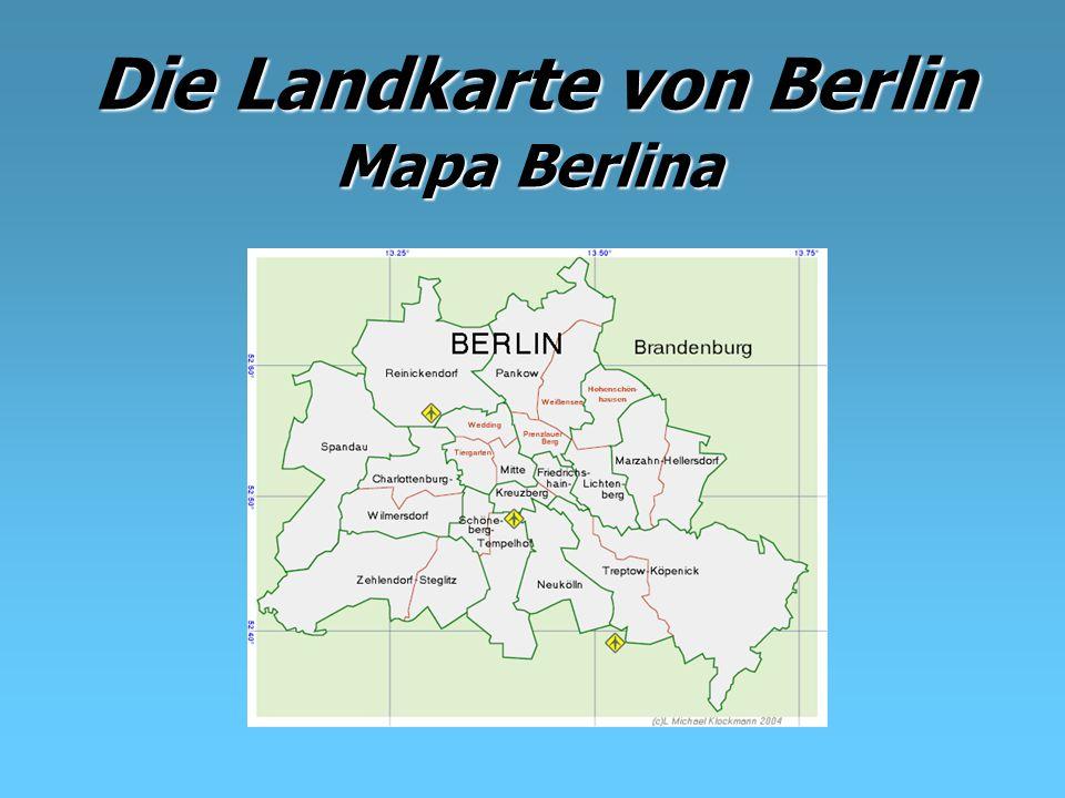 Die Landkarte von Berlin Mapa Berlina