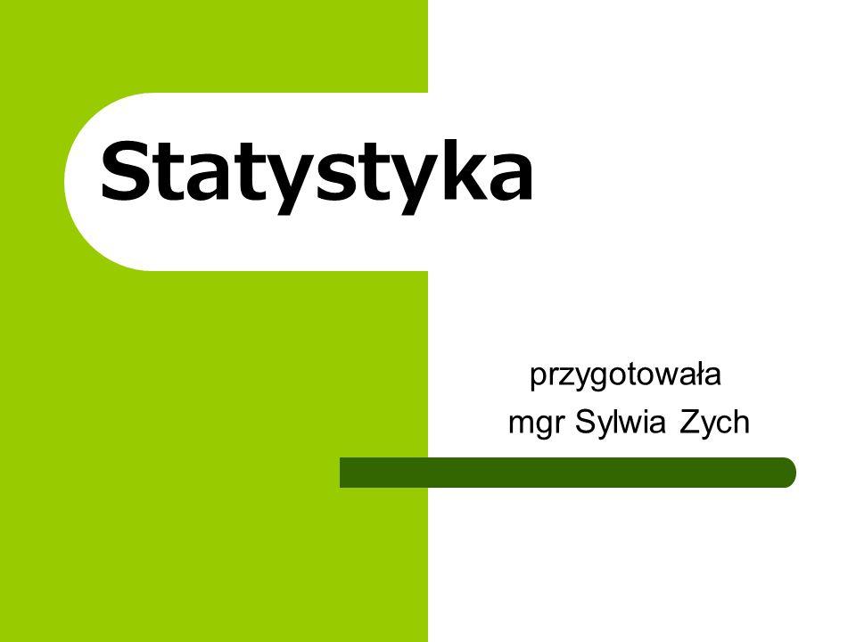 Statystyka przygotowała mgr Sylwia Zych