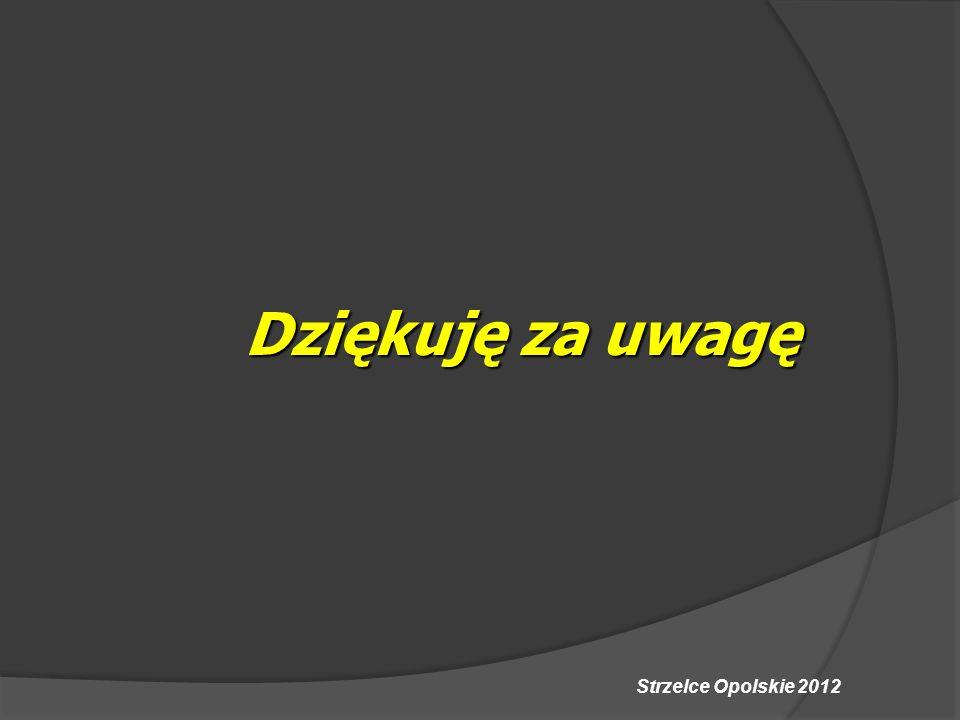 Strzelce Opolskie 2012 Dziękuję za uwagę