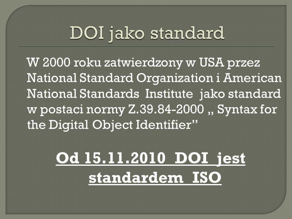 W 2000 roku zatwierdzony w USA przez National Standard Organization i American National Standards Institute jako standard w postaci normy Z.39.84-2000