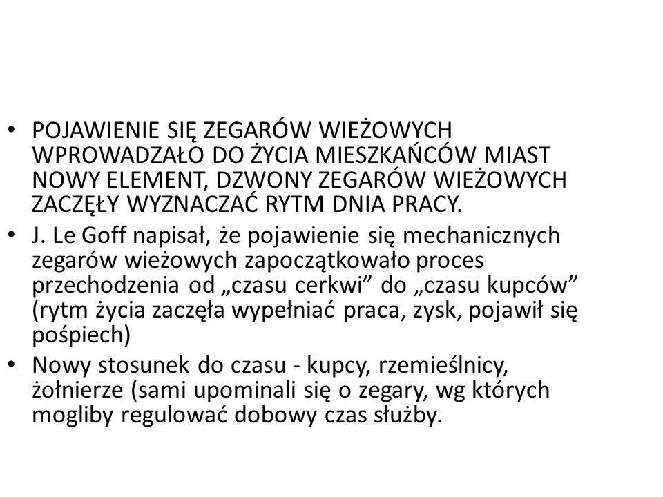 Nowy stosunek do czasu dobowego i jego pomiaru NOWOŚĆ 1659 - ukaz Aleksego Michajłowicza regulujący czas pracy diaków XVII wiek - na cyferblatach rosyjskich zegarów zaczęto umieszczać wskazówkę minutową, a godzina zaczyna się stabilnie dzielić na 60 minut XII-XVI w.