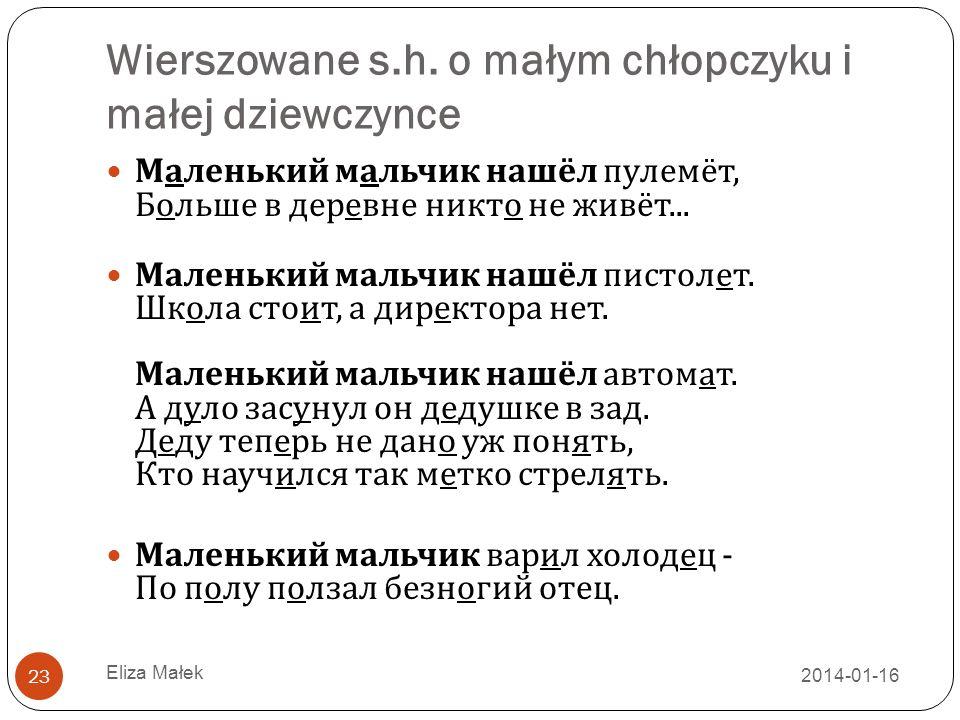 Wierszowane s.h.