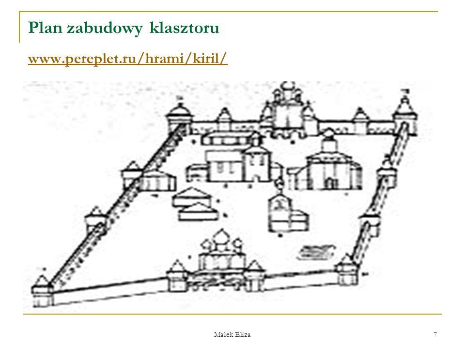 Małek Eliza 8 Lokalizacja monasterów Монастыри, как и город, имели живописную свободную планировку, привязанную к въездным воротам и центральной группе зданий.