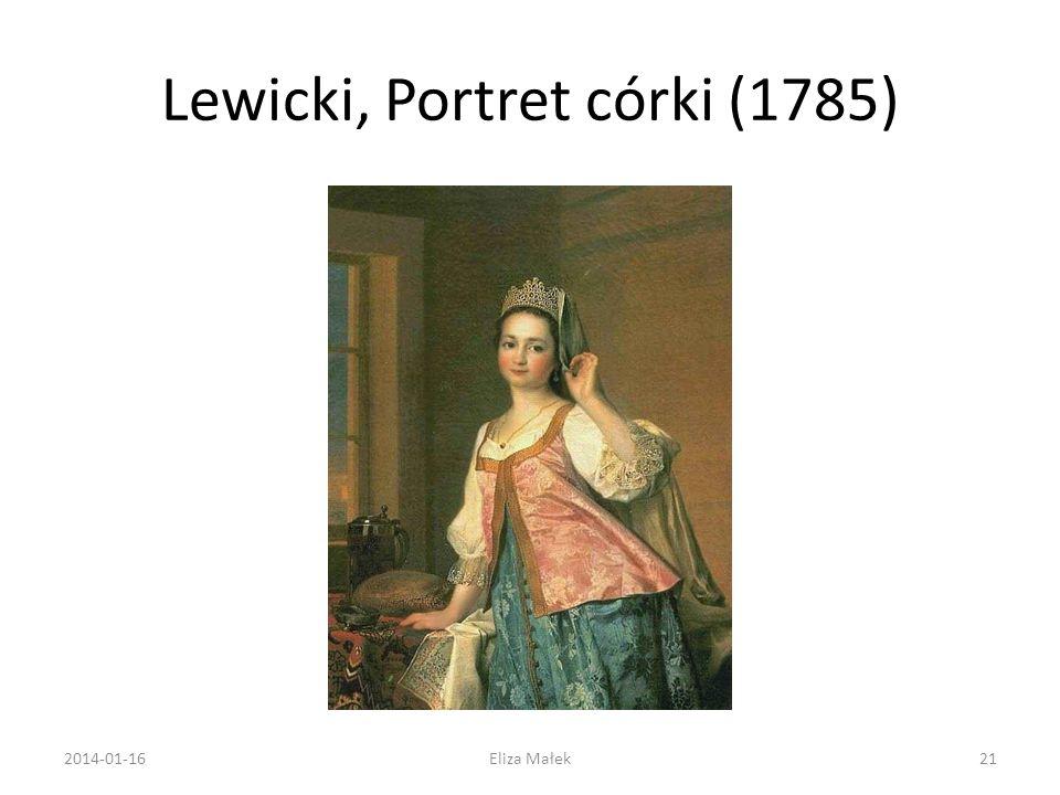 Lewicki, Portret córki (1785) 2014-01-1621Eliza Małek