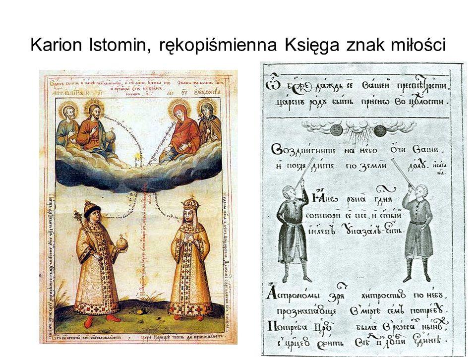 Karion Istomin, rękopiśmienna Księga znak miłości
