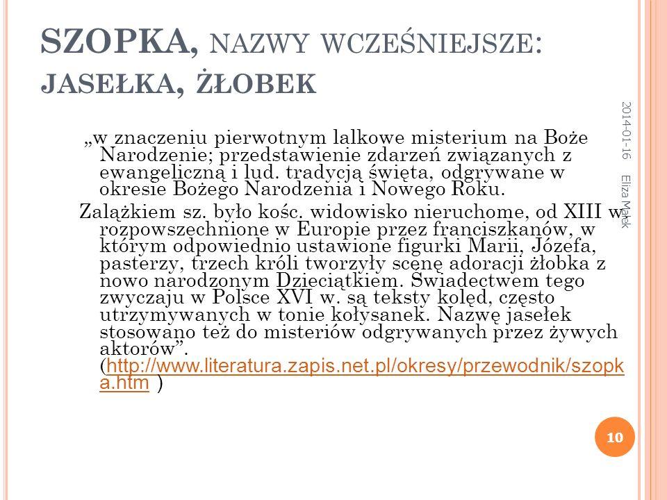 T EATR RELIGIJNY ( WERTEP ) Eliza Małek 9 Ikona szkoły jarosławskiej XVII w. Ikona z Zaonieża XVII w. 2014-01-16
